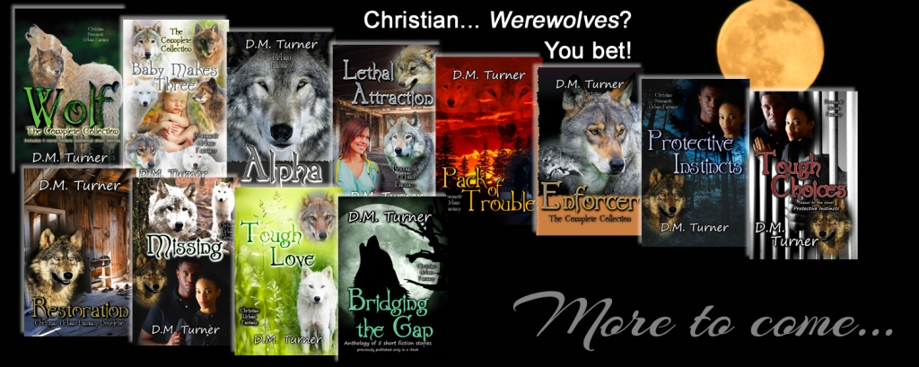 Collection of cover image for the books about the Campbell Wildlife Preserve werewolf pack
